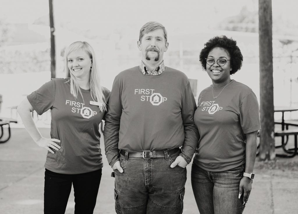 Black and White Picture of First Stop Case Managers Cropped